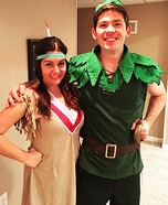 Peter Pan and Tiger Lily Homemade Costume