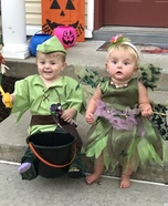 Peter Pan and Tinker Bell Homemade Costume