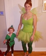Peter Pan and Tinkerbell Homemade Costume
