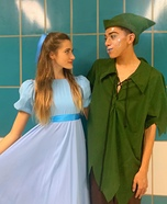 Peter Pan and Wendy Homemade Costume