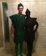 Peter Pan & his Shadow Homemade Costume