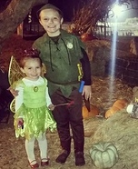 Peter Pan & Tinker Bell Homemade Costume