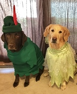 Peter Pan Pups Homemade Costume