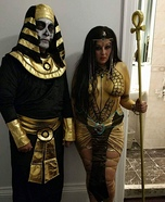 Pharaoh Fro and his Egyptian Queen Homemade Costume