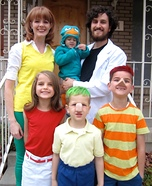 Phineas & Ferb Family Homemade Costume