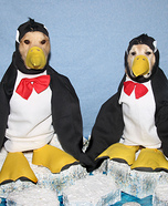 Phoenix and Gryphon as Penguins on Icebergs Homemade Costume