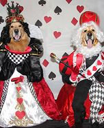 Phoenix and Gryphon as the King and Queen of Hearts Homemade Costume