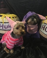 Piglet and Eeyore Dogs Homemade Costume