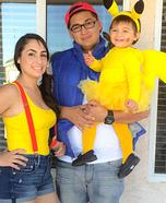 Pika Pika Pokemon Family Costume