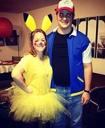 Pikachu and Ash Couple Costume