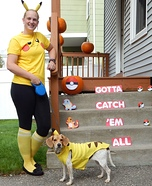 Pikachu Dog Homemade Costume