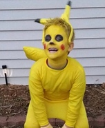 Pikachu from Pokemon Homemade Costume