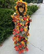 Pile of Fall Leaves Homemade Costume