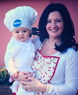 Pillsbury Doughboy & the Baker Homemade Costume