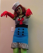 Pin-Up Sailor Zombie Homemade Costume