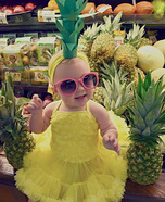 Pineapple Cutie Baby Homemade Costume