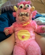 Pink Cookie Monster Costume
