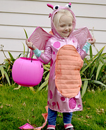 Pink Fire Dragon Homemade Costume