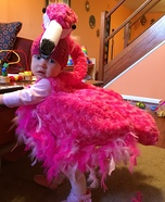 DIY baby costume ideas: Pink Flamingo Baby Costume