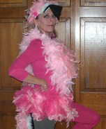 Pink Flamingo Lawn Ornament Homemade Costume