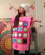Pink iPhone Homemade Costume