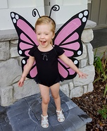 Pink Monarch Butterfly Homemade Costume