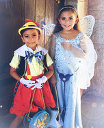 Pinocchio and the Blue Fairy Homemade Costume