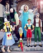 Pinocchio Family Homemade Costume