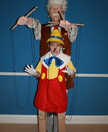Illusion costume ideas - DIY Pinocchio and Gepetto Costume