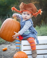 Pippi Longstocking Baby Homemade Costume