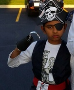 Homemade Pirate Costume for Boys