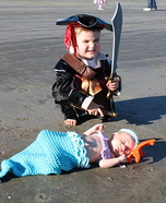 Pirate and Mermaid Homemade Costumes