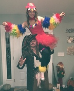 Pirate and Parrot Homemade Costume