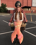 Pirate carrying a Mermaid Homemade Costume
