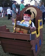 Pirate in a Ship Homemade Costume