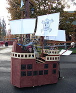 Pirate Ship with Pirate Halloween Costume