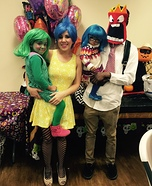 Pixar's Inside Out Family Homemade Costume