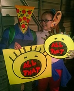 Pizza Face and Big Ear Boy Homemade Costume