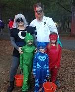 PJ Masks Family Homemade Costume