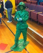 Plastic Army Man Costume Homemade
