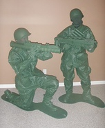 Homemade Plastic Army Men Costume