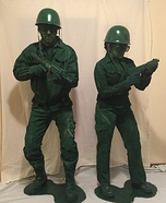 Plastic Army Men Toys Couple Homemade Costume
