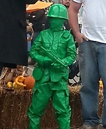 Plastic Green Army Man Homemade Costume