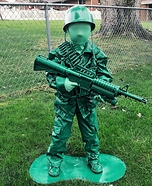 Plastic Green Army Man Toy Homemade Costume