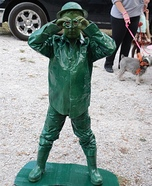 Green Plastic Toy Army Man Costume