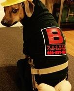 Plumber Butt Crack Dog Homemade Costume
