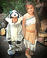 Pocahontas and Meeko Homemade Costumes