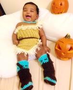 Homemade Pocahontas Baby Costume