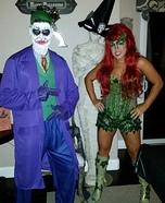 Poison Ivy and Joker Homemade Costume