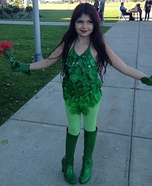 Poison Ivy Girl's Homemade Costume